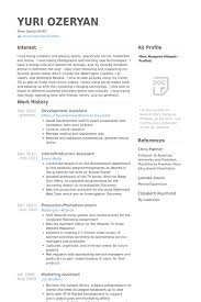 Marketing Assistant Resume Development Assistant Resume Samples Visualcv Resume Samples