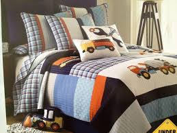 boys bedding sets with construction themed homefurniture org