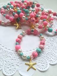 party favor bracelets set of ten starfish mermaid birthday party favor jewelry favor