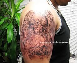 angel half sleeve tattoo on armgwan soon lee tattoo