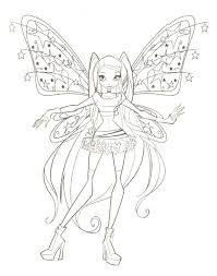 kids club coloring printable winx pages bloom musa stella