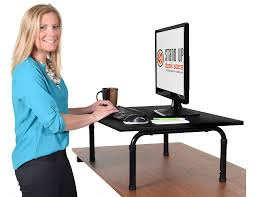 space and style management in your office with standing computer