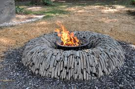 round patio stone unique fire pits for any outdoor areas homesfeed