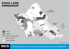 Land Ownership Map Printable Travel Maps Of O U0027ahu Moon Travel Guides