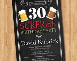 surprise 30th birthday invitation 30th birthday retro beer