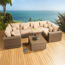 Corner Sofa Table Design by Luxury Outdoor Garden U Shape Corner Sofa Set Group Mocha Rattan