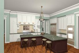 rectangular kitchen layout custom home design