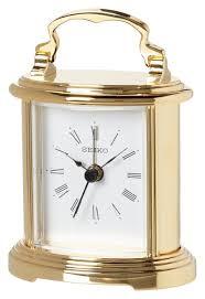 desk alarm clock amazon com seiko desk and table alarm carriage clock gold tone