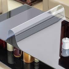 nappe cuisine plastique verre doux nappe étanche transparent pvc nappe pour carré
