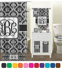 Black Damask Wallpaper Home Decor by Black And White Damask Bath Set Living Room Ideas