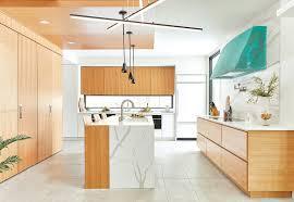 mid century modern walnut kitchen cabinets clarifying contemporary kitchen bath design news