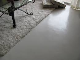 inside house painting concrete floor with white color look like