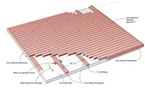 the best free outdoor deck plans and designs concrete slab deck