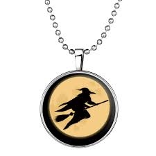 halloween jewelry glow in the dark riding witch halloween necklace u2013 sparkle delights