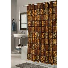 hookless animal print fabric shower curtain black white walmart com