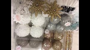 hobby lobby gold silver rosegold teal ornament haul