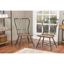 baxton studio elfrida black metal dining chairs set of 2 2pc