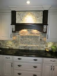 kitchen stone backsplash with white cabinets uotsh
