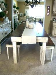Rustic Bench Dining Table Dining Room Table Bench Plans Rustic Dining Tables With Benches