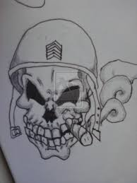 army skull design photos pictures and sketches