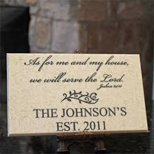 wedding plaques personalized personalized family name plaque with joshua 24 15 christian