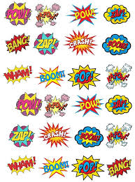 marvel cake toppers 24 stand up premium edible wafer paper retro pow zap