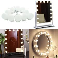 buy makeup mirror with lights hollywood style led lighted vanity mirror lights bulbs kit makeup