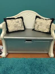 Little Tikes Toy Chest Little Tikes Bench Makeover I Painted The Pink Parts Silver To Go