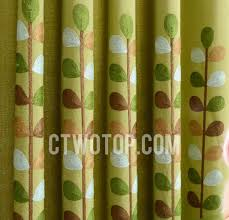Green Kids Curtains And Linen Blended Room Darkening Green Kids Curtains