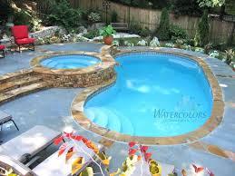 new great lakes in ground fiberglass pool by san juan fiberglass swimming pool with raised spa fiberglass pools