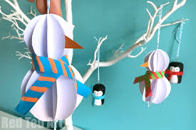 easy paper snowman ornaments ted s