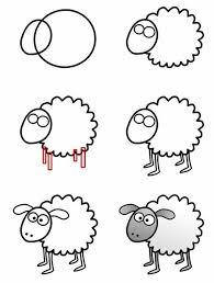 25 sheep cartoon ideas cute animal drawings