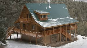 One Story Log Cabins 1 Story Log Home Floor Plans