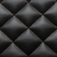 Car Interior Upholstery Fabric Black Red Stitch Diamond Quilted Faux Leather Car Interior