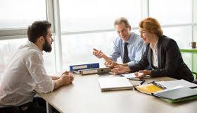 emploi de bureau entrevue d emploi dans le bureau image stock image 89345369