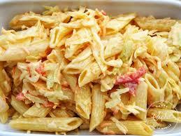 cuisiner le chou blanc salade de penne au chou blanc la tendresse en cuisine