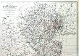 Road Map Of Ny State by New Jersey Historical Maps