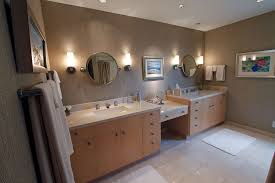 Norwell Bathroom Lighting Contemporary Master Bathroom With Wall Sconce U0026 Travertine Tile