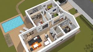 V Shaped House Plans House Plans Djs L135 Bungalow In The Shape Of Letter L Youtube