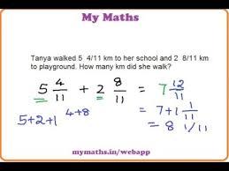 ganit margadarsak addition of mixed fractions word problem 2