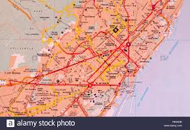 Map Of Spain Cities by Street Map Of The Spanish City Of Barcelona Spain Stock Photo