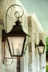 outdoor gas light fixtures gas l lantern french gas lanterns with copper curls lighting gas