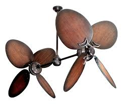 ceiling fan outdoor blades bronze dual ceiling fan with 50 distressed walnut large oval blades