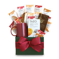 california gift baskets california delicious tazo tea temptations gift basket