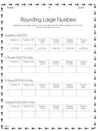 18 best 4th grade rounding whole numbers images on pinterest