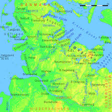Physical Map Of North America by Physical Map Of Schleswig Holstein 2008 Full Size