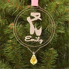 personalized pointe shoes ornament with swarovski