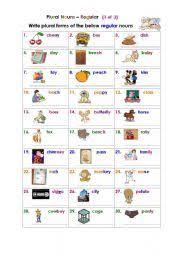 plural nouns u2013 regular 1 of 3