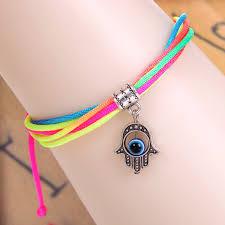 eye charm bracelet images Turkey evil eye hand leather bracelet diy bracelet for halloween jpg