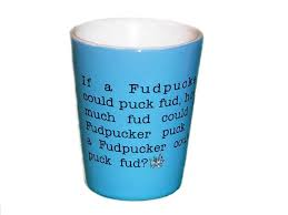 fudpucker trading company tongue twister shot glass